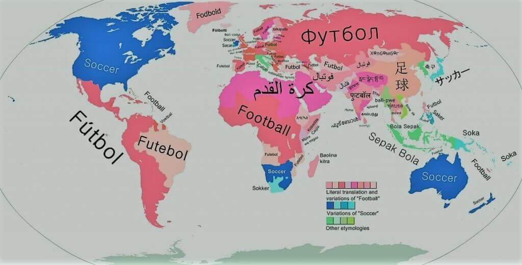 mapa mundial nomes futebol