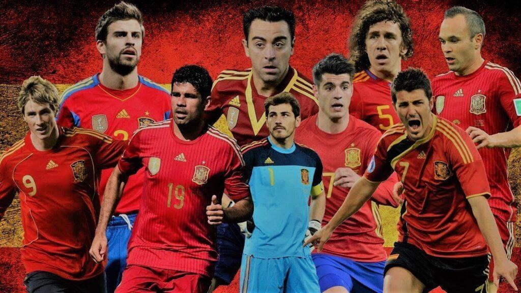 seleccion espanhola 2001-17