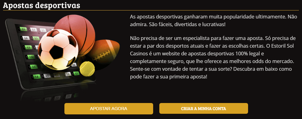 Estoril Sol Casinos apostas esportivas explicadas