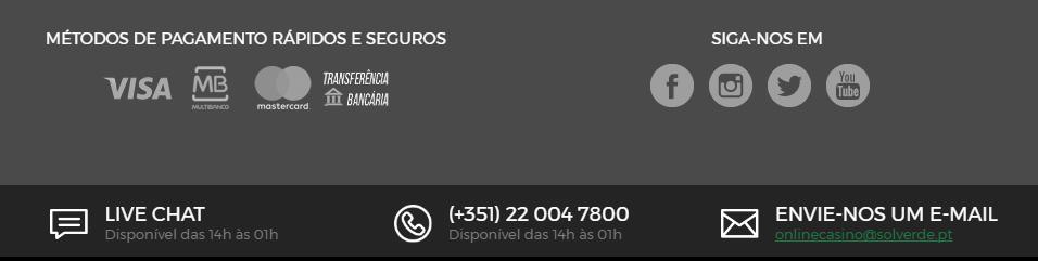 Contactos com Casino Solverde