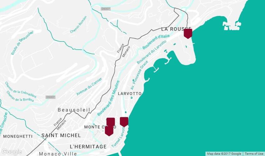 Montecarlo mapa
