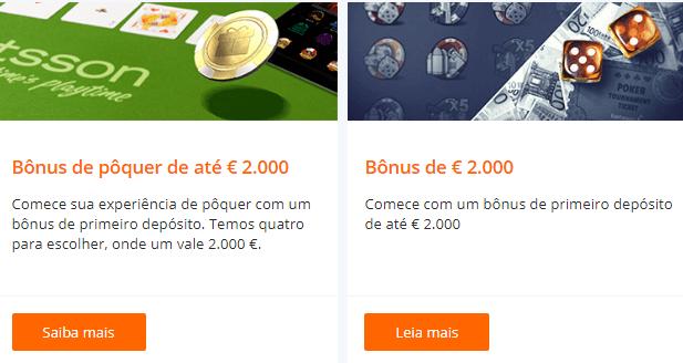 Betsson bónus 2.000 euros
