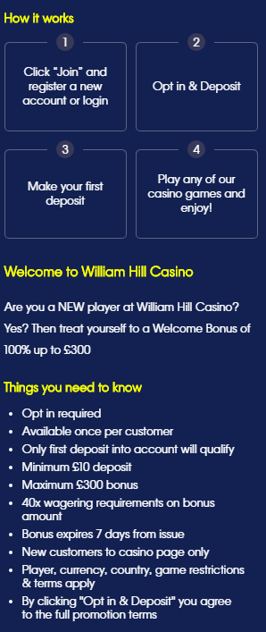 william hill termos e condicoes