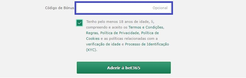 bet365 bónus registro
