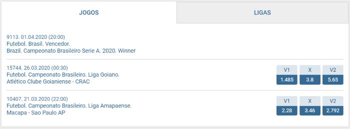 1xbet Brasileirão