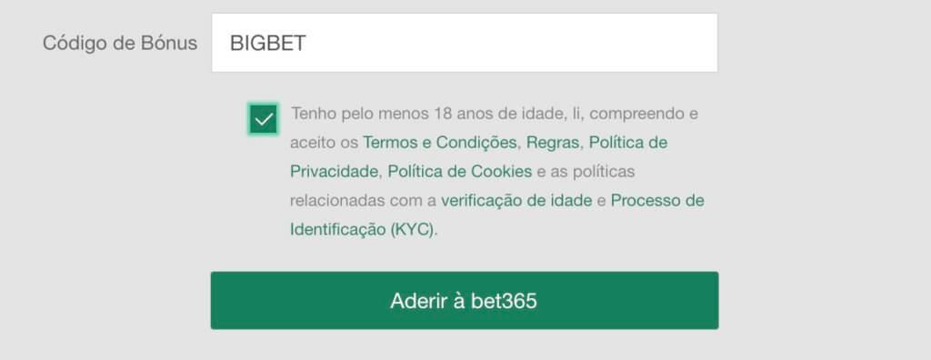 Código Bônus Bet365 2020: BIGBET